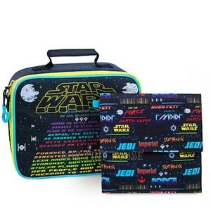 Disney Star Wars Black Lunch Bag + Darth Vader Bag